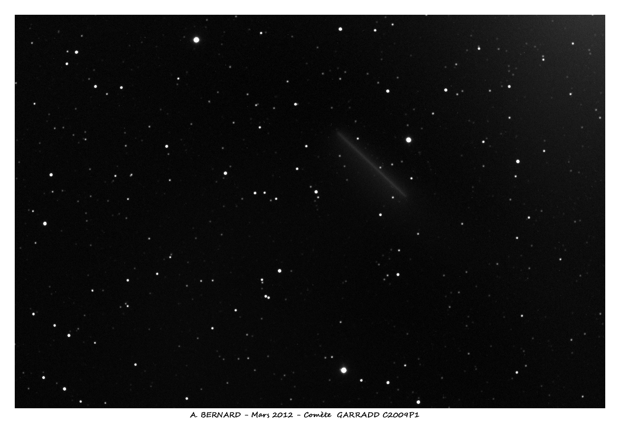 La comète GARRADD C2009P1 avec Atik 383L+ sur FSQ106