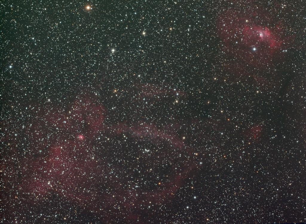 SH2-157 + Bubble Nebula en RVB - Alban BERNARD
