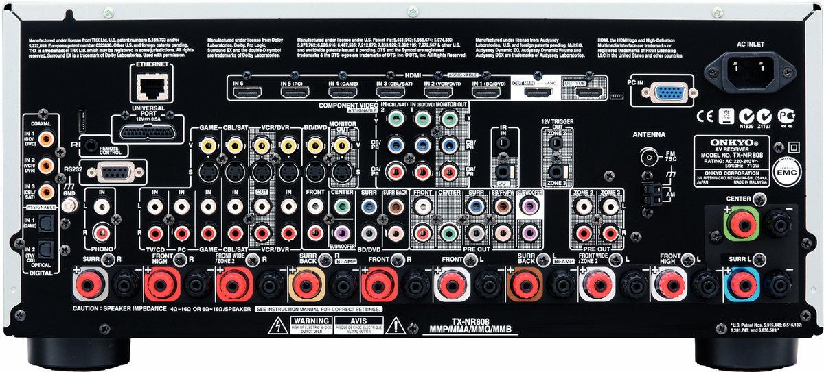 Onkyo-TX-NR808 Face arrière